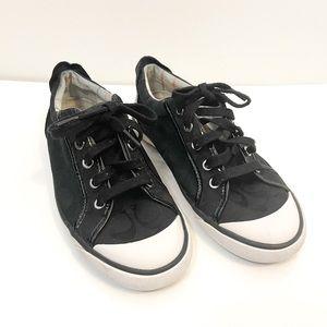Coach Black Barrett Signature C Sneakers Size 7.5
